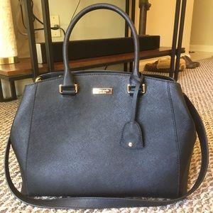 Kate Spade. Large black handbag. Used once.